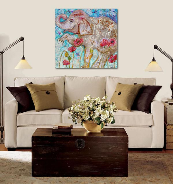 Elephant art | Miriam Schulman art | Miriam Schulman artwork | art decorating ideas