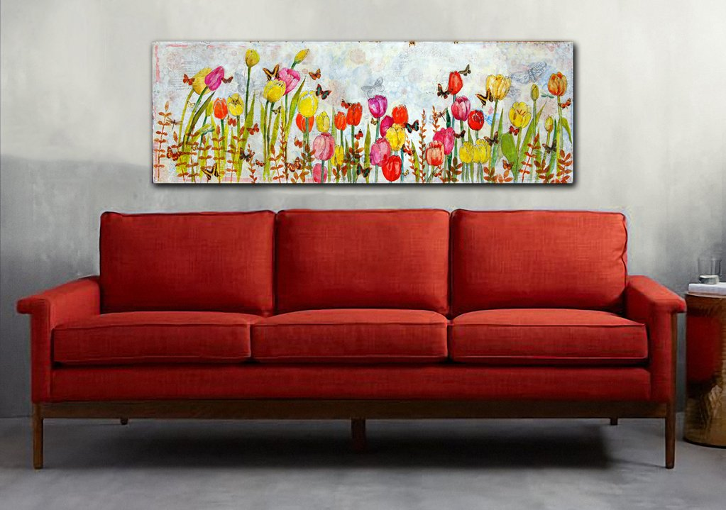 Tulip art | Flower art | Miriam Schulman Art | art decorating ideas