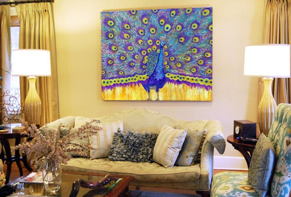 Peacock art | Miriam Schulman artwork | Miriam Schulman art | art decorating ideas