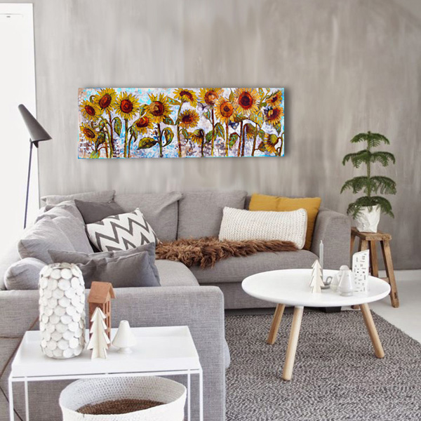 Sunflower art | Miriam Schulman art | Flower art | art decorating ideas